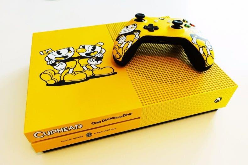 No os perdáis esta impresionante Xbox One S de Cuphead 1