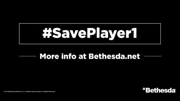 Bethesda hace campaña para salvar el juego para un jugador, #SavePlayer1 1