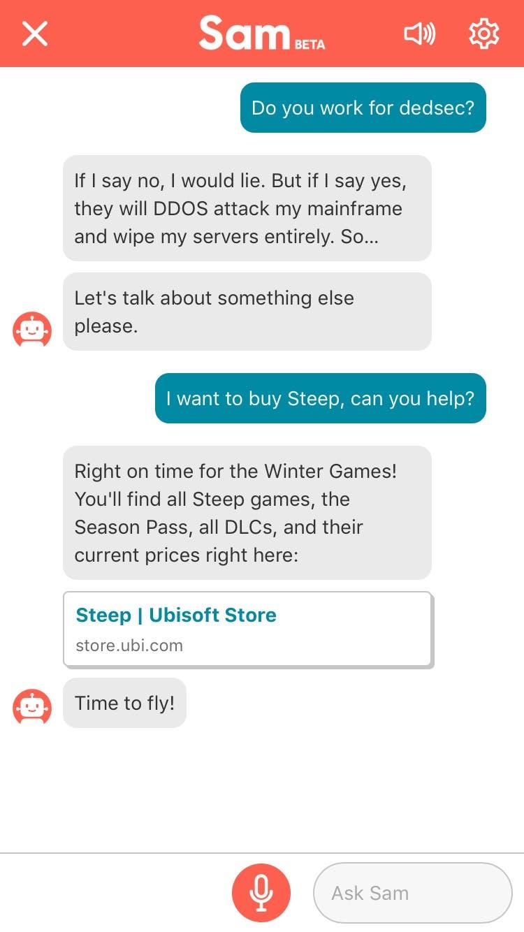 Sam es el Siri de los videojuegos de Ubisoft 2