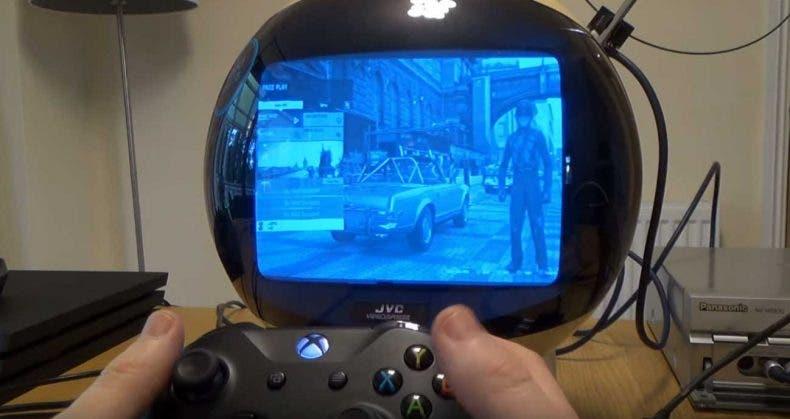 Así se juega en una TV de 1970 a Xbox One X 1