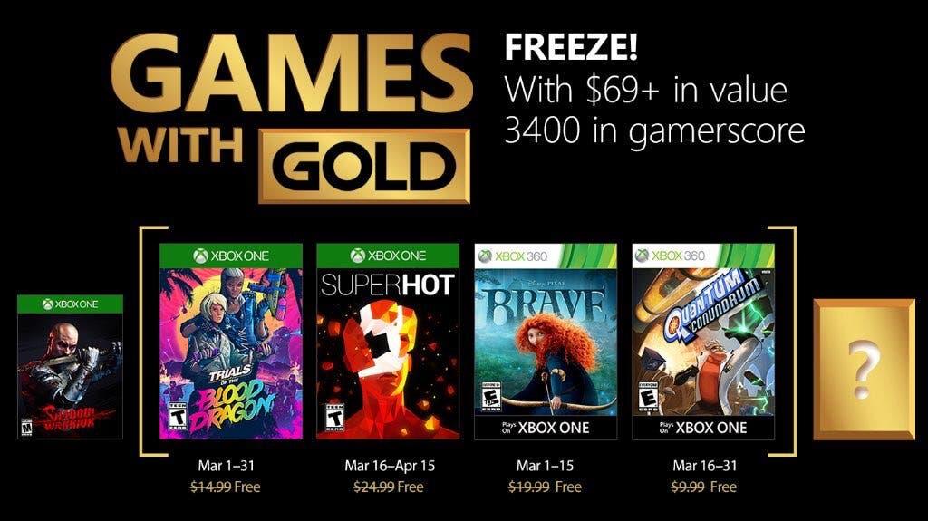 Games with Gold de Xbox One y Xbox 360 para marzo de 2018 2