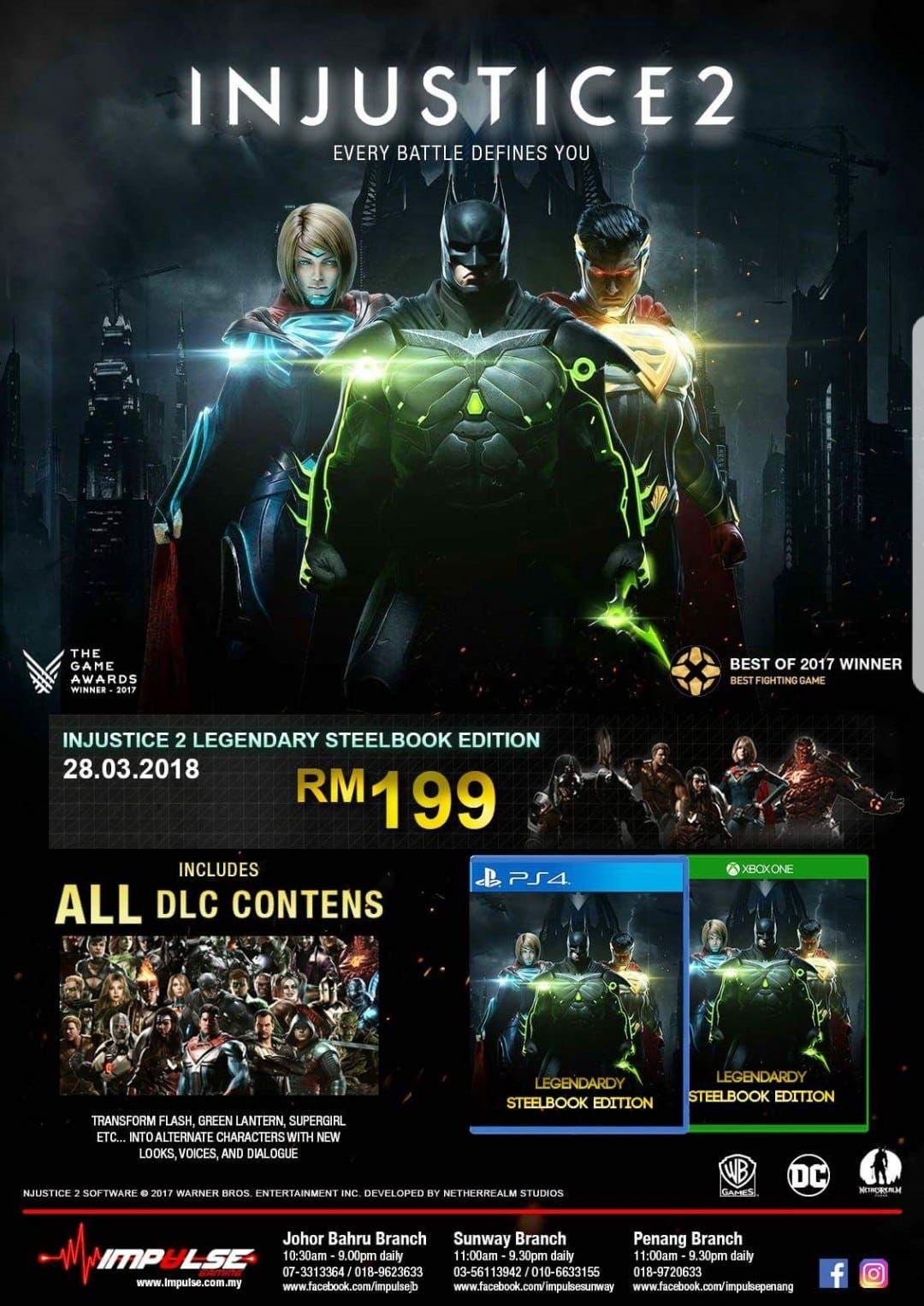 Injustice 2 Legendary Edition se filtra en varias tiendas online 2
