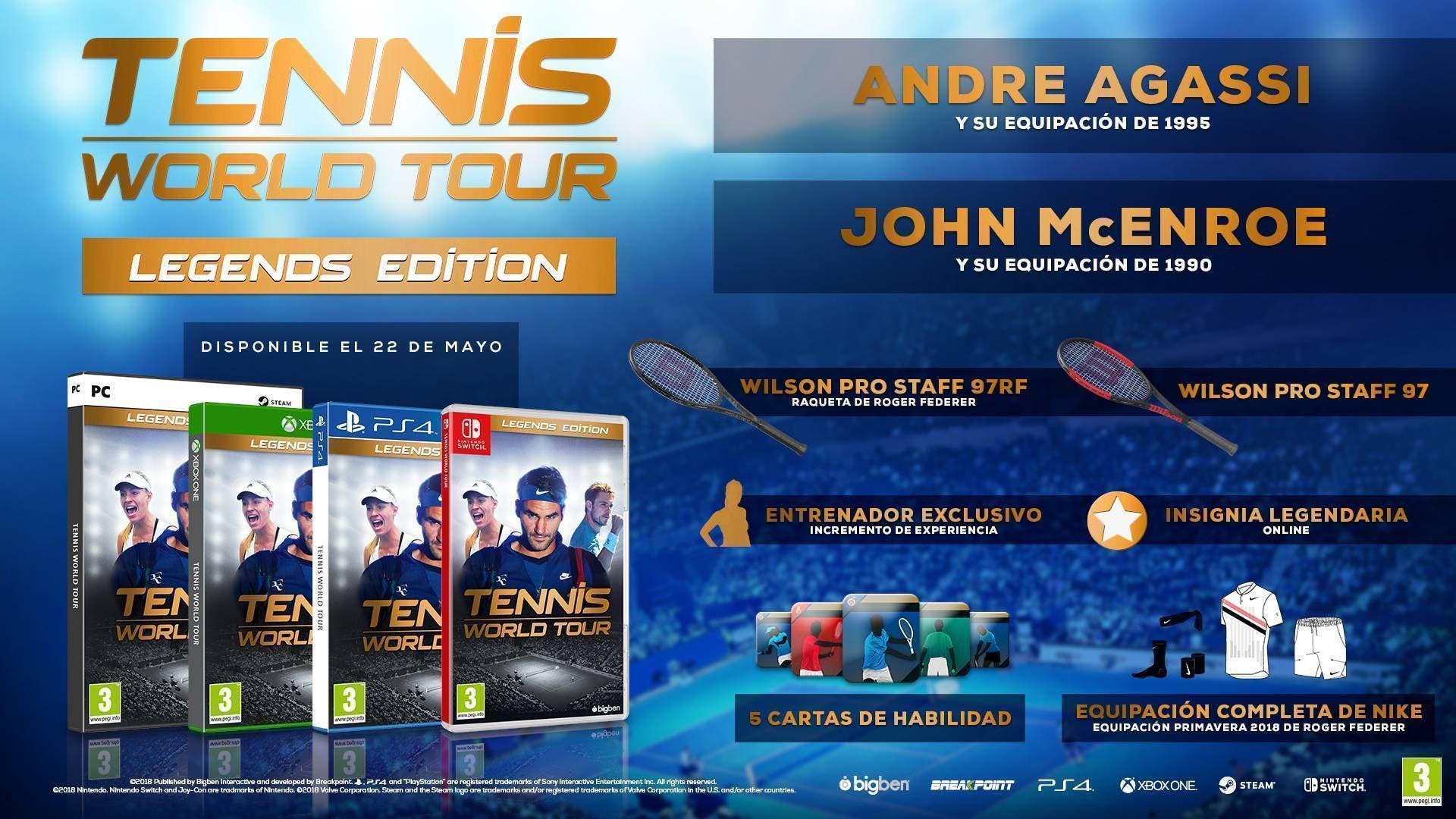 Tennis World Tour revela su edición Legendaria 2