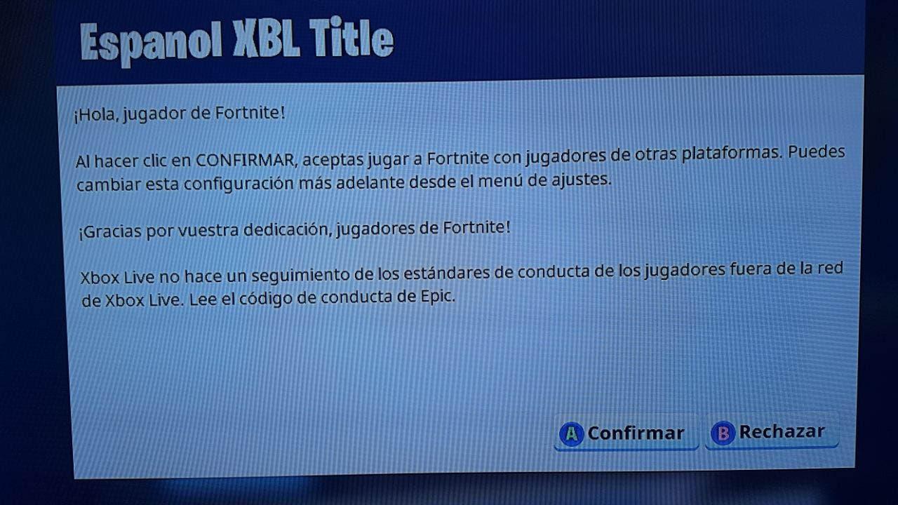El juego cruzado de Fortnite ya está disponible en Xbox One 2