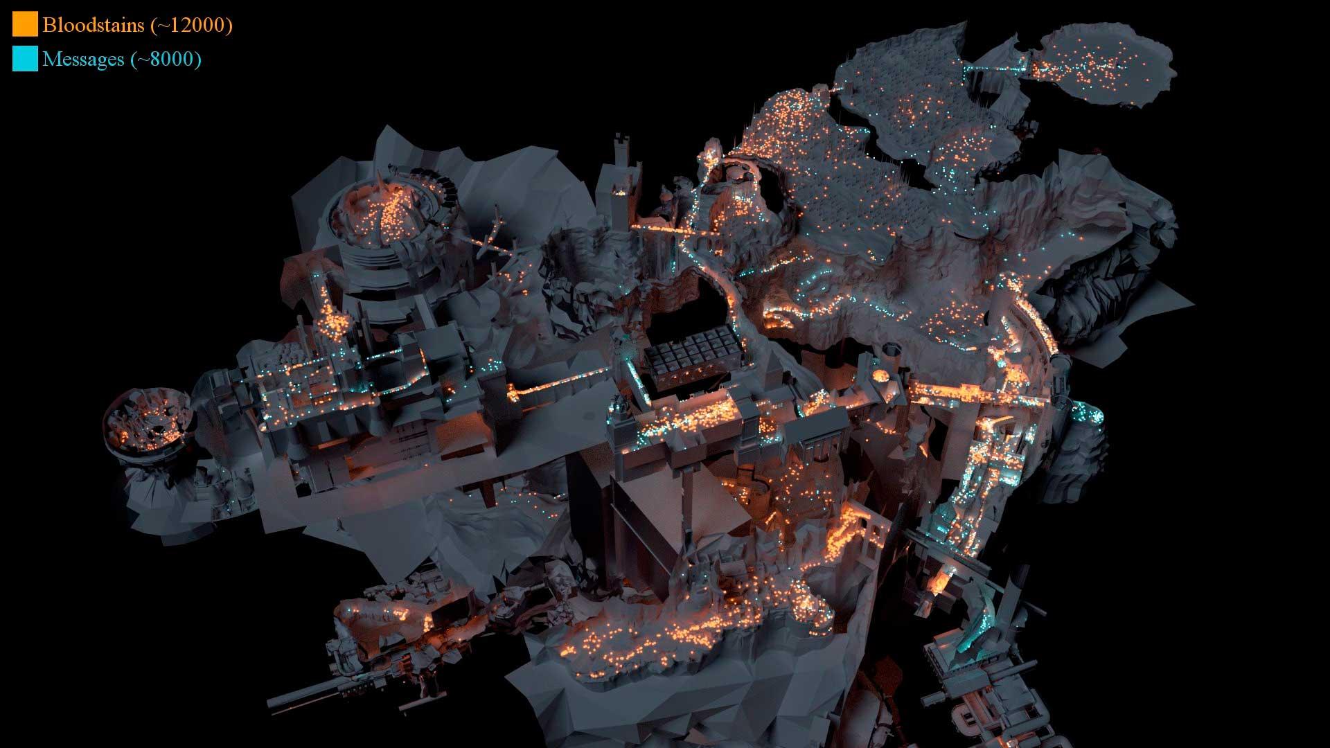 Este mapa de Dark Souls nos enseña los puntos críticos del juego 2