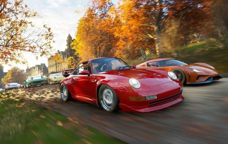 Gameplay de Forza Horizon 4 con cambio de estaciones a 4K 1