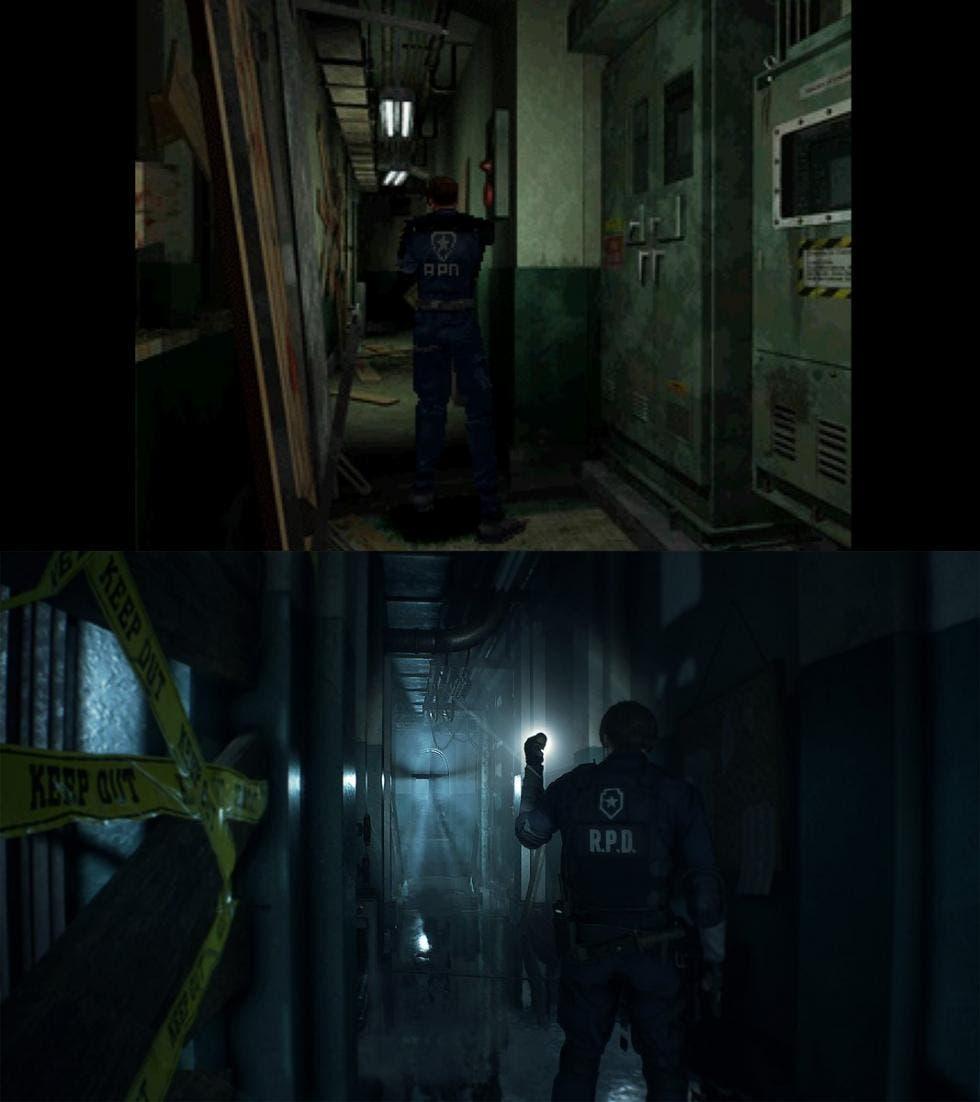 Comparativa de Resident Evil 2 Remake con el original 2