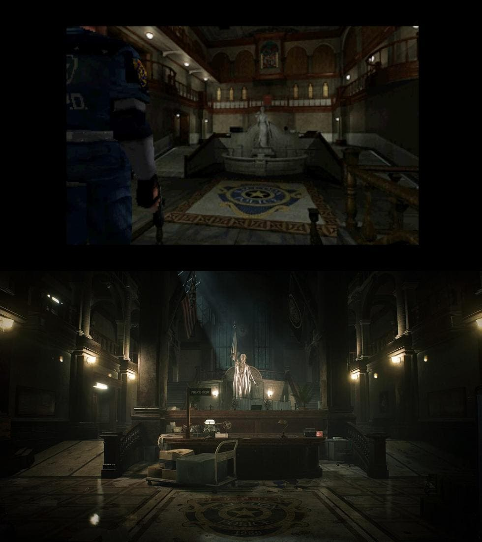 Comparativa de Resident Evil 2 Remake con el original 3