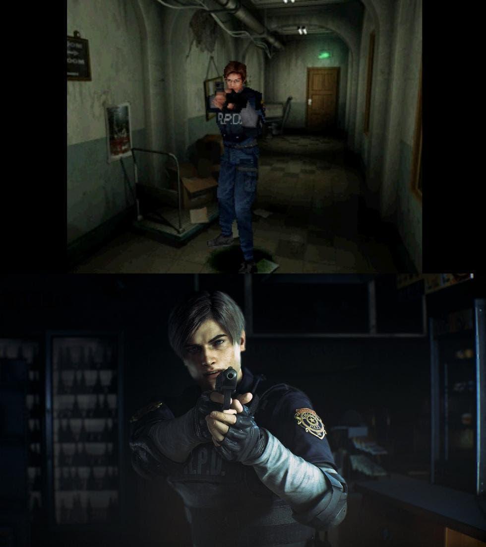 Comparativa de Resident Evil 2 Remake con el original 4