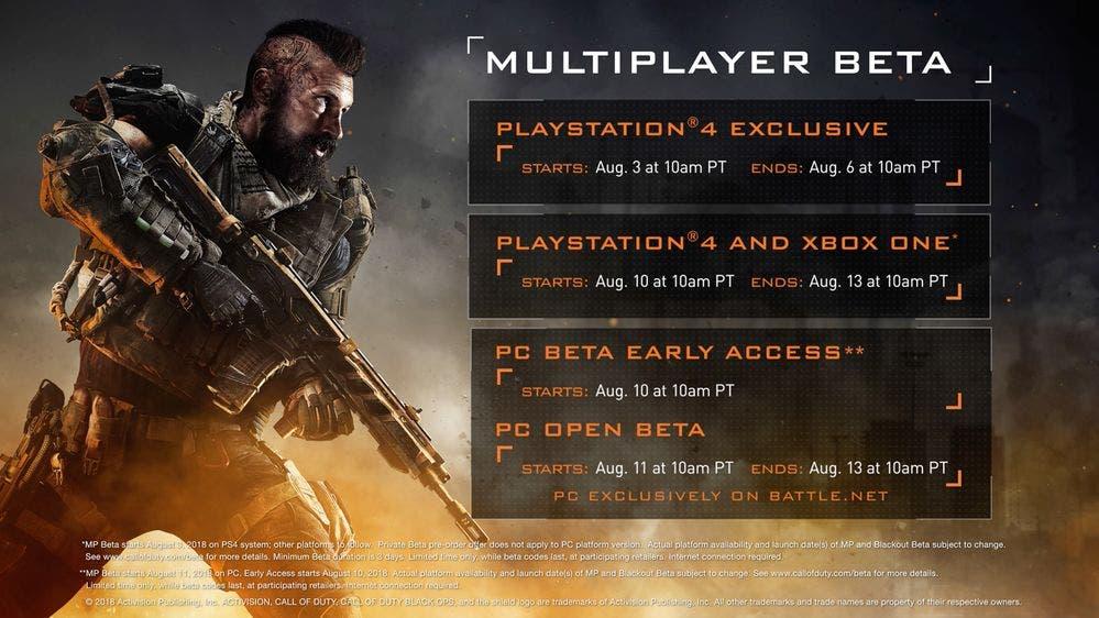 La beta de Call of Duty Black Ops 4 ya tiene fecha 2