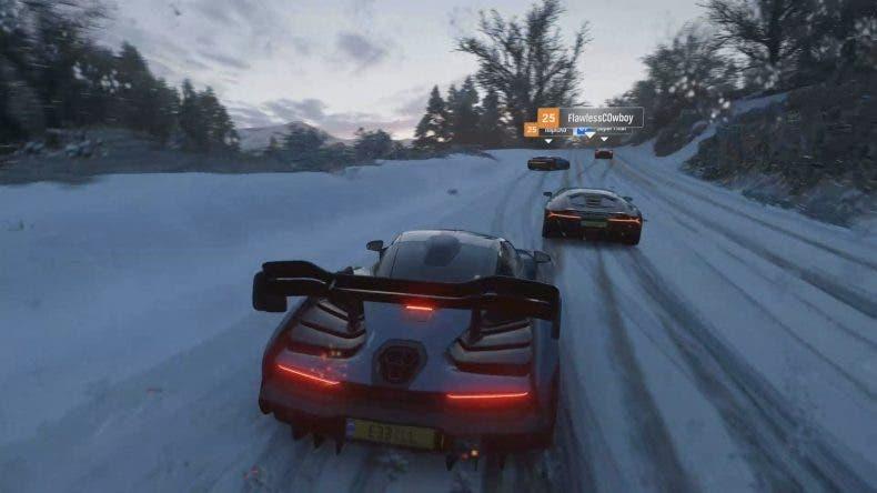 Gameplay de Forza Horizon 4, invierno, tienda Forzathon y dominio de los coches 1