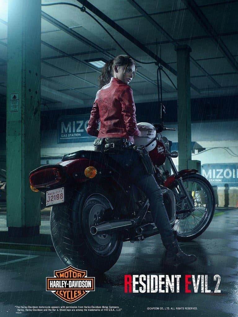 La nueva Claire Redfield de Resident Evil 2 se presenta con una Harley Davidson 2