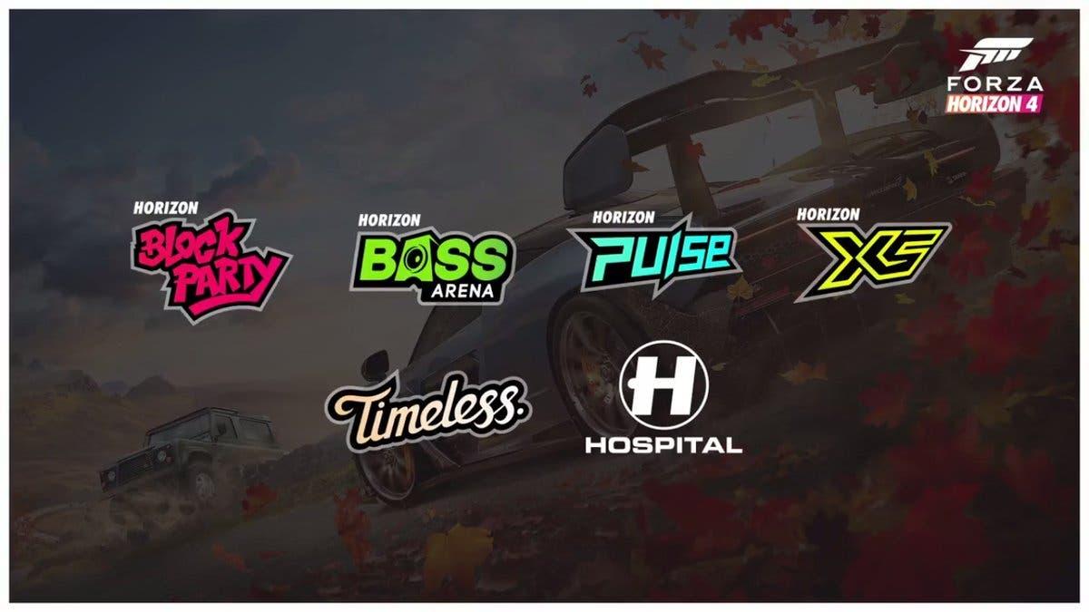 Esta es la lista oficial de coches y canciones de Forza Horizon 4 3