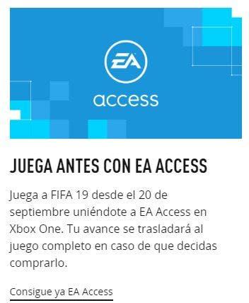 FIFA 19 en EA Access