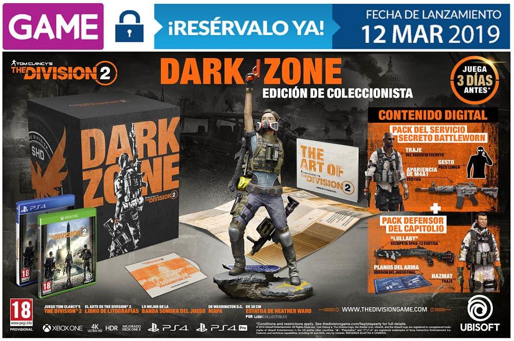 Las tres ediciones de The Division 2 que se venderán en GAME 4