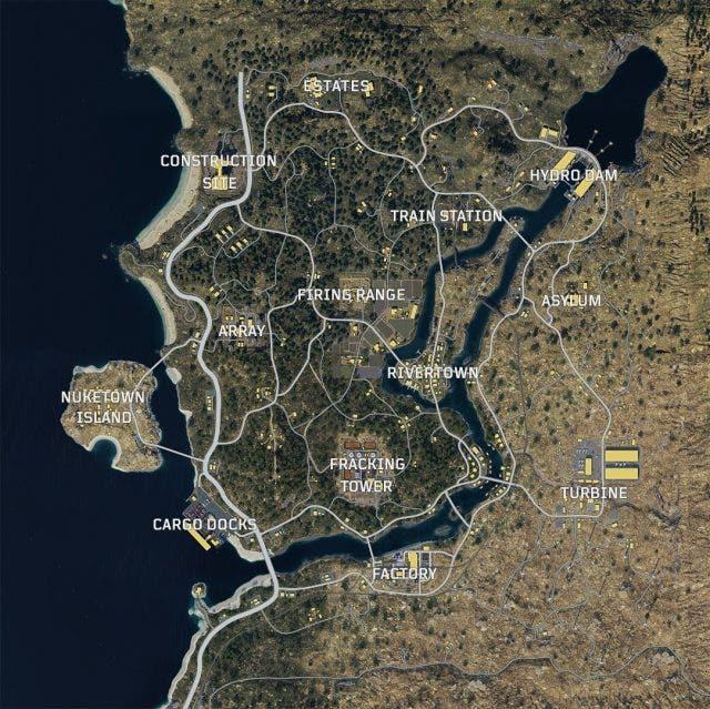 Desvelado el mapa del modo Battle Royale de Call of Duty Black Ops 4 2