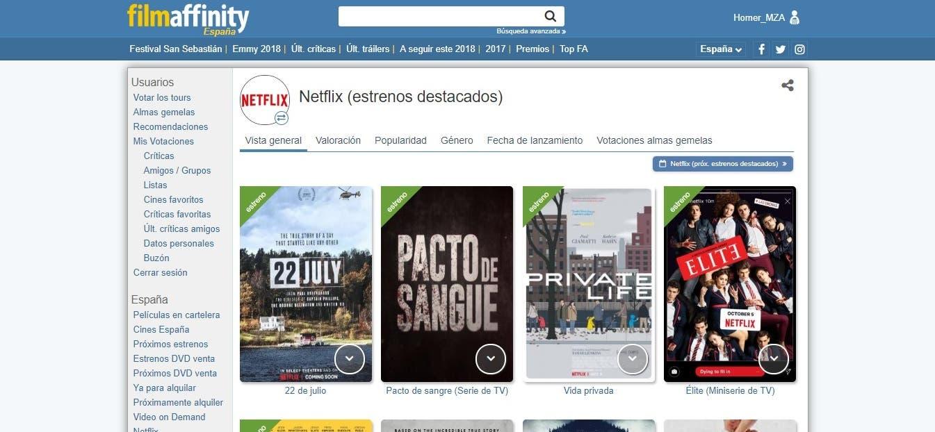 Guía para descubrir películas y series en Netflix, HBO, Amazon y Movistar+ 3