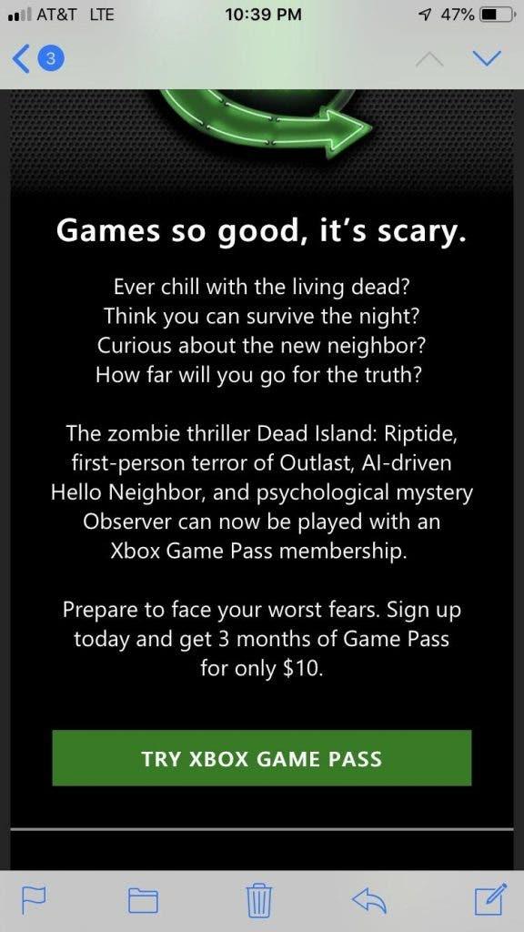 Xbox Game Pass presenta una nueva promoción por Halloween, tres meses al precio de uno 2