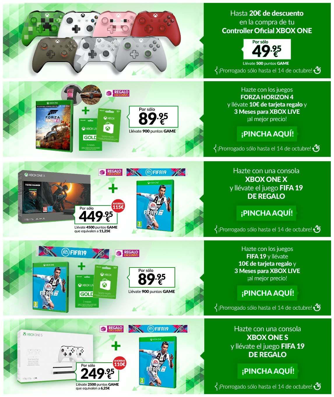 El Plan Renove de Xbox One X se prorroga esta semana en GAME 2