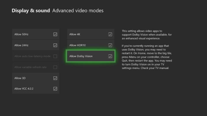 Qué es y cómo funciona Dolby Vision en Xbox Series X|S 1