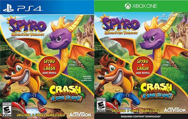 Nuevas informaciones ofrecen precio y lanzamiento del bundle de Spyro y Crash 2