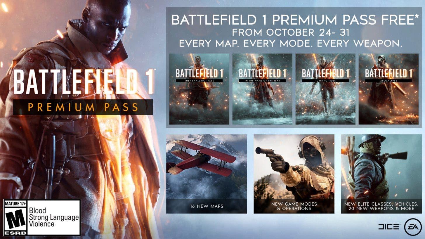 Consigue gratis el Premium Pass de Battlefield 1 para amenizar la llegada de Battlefield V 2