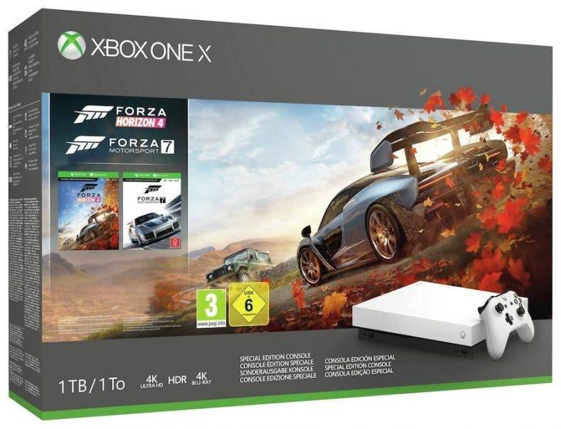 La nueva Xbox One X blanca tendría otro pack junto a Forza Horizon 4 1