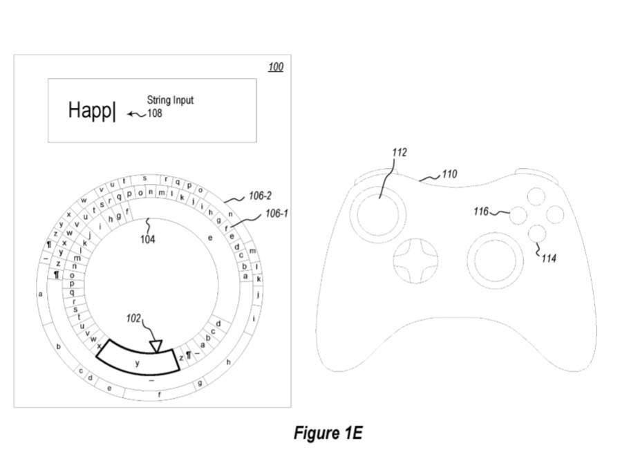 Microsoft patenta un teclado radial para manejar con los joystick de Xbox One 1