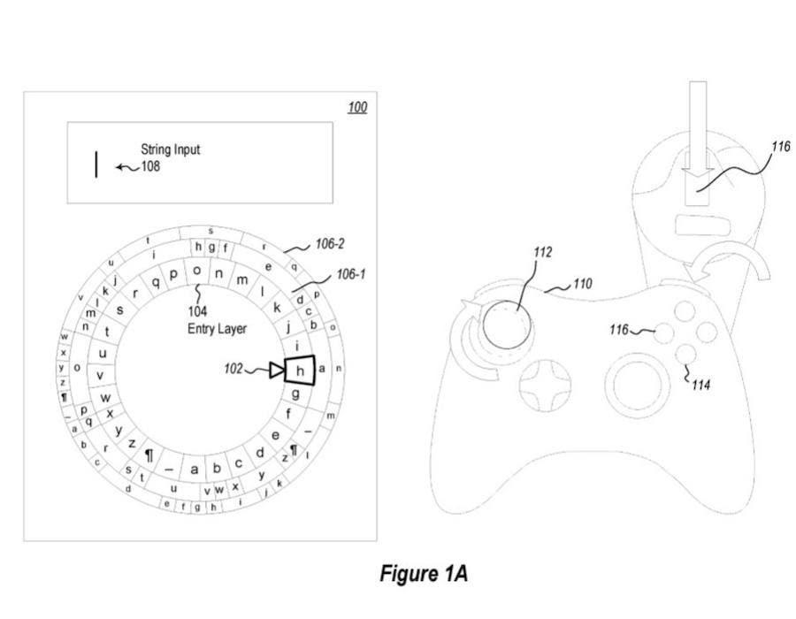 Microsoft patenta un teclado radial para manejar con los joystick de Xbox One 2