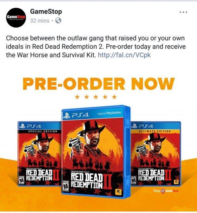 ¿Podría Red Dead Redemption 2 venir en dos discos? 2