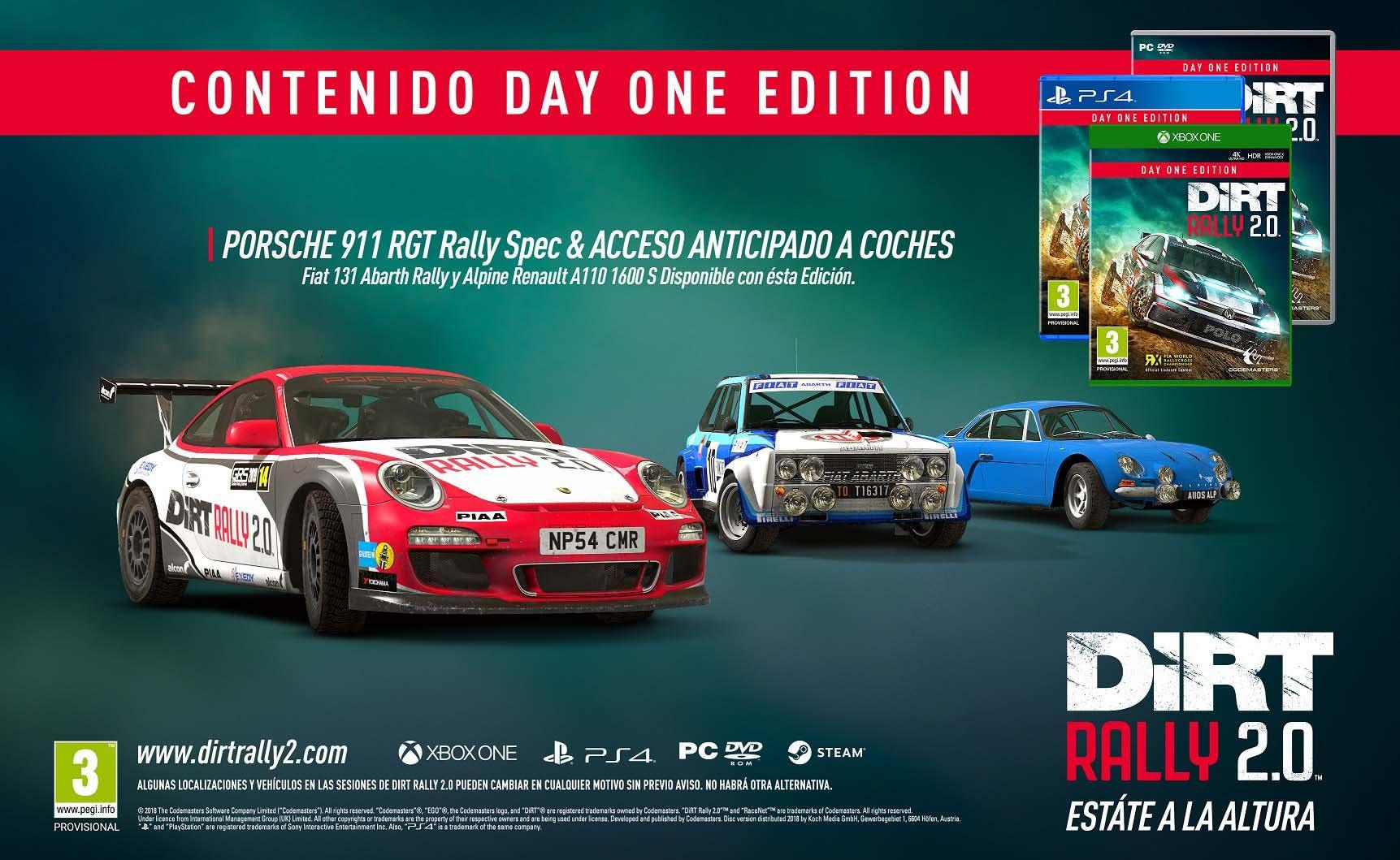 DIRT Rally 2.0 presenta sus bonificaciones por reserva y ediciones 2