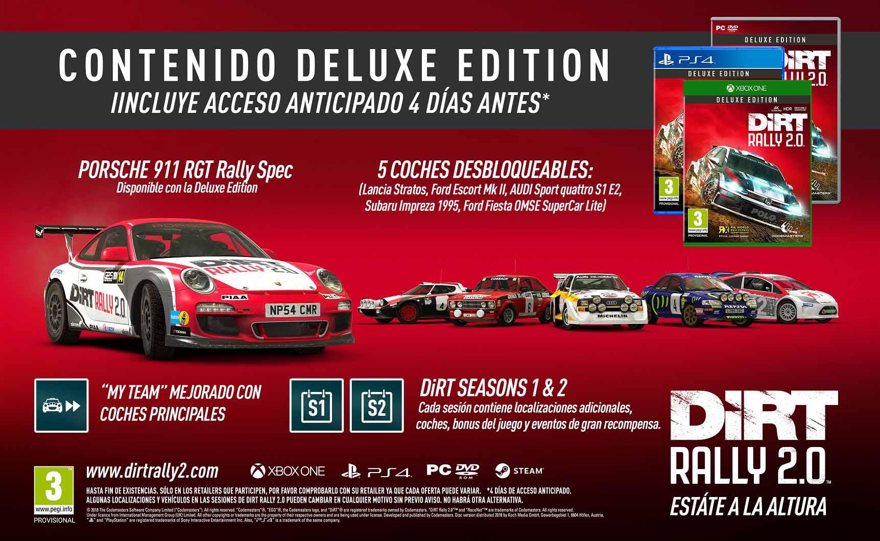 DIRT Rally 2.0 presenta sus bonificaciones por reserva y ediciones 3