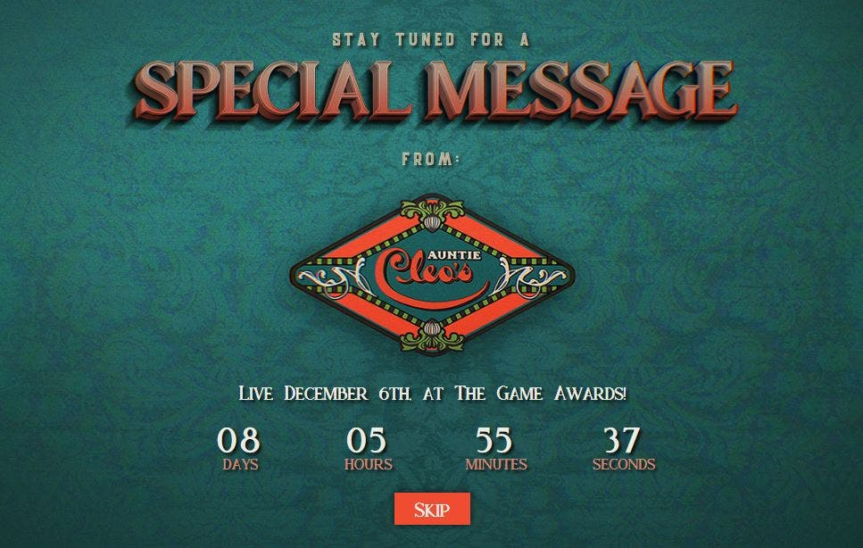 La web de Obsidian nos prepara para un anuncio importante en The Game Awards 2