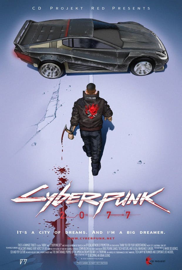 El poster de Cyberpunk 2077 hecho por un fan rinde tributo a Akira 2