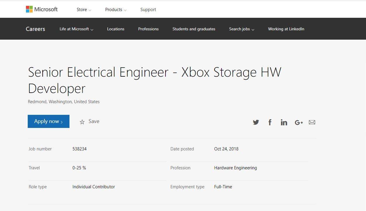 Microsoft está buscando personal para Xbox Scarlett 1