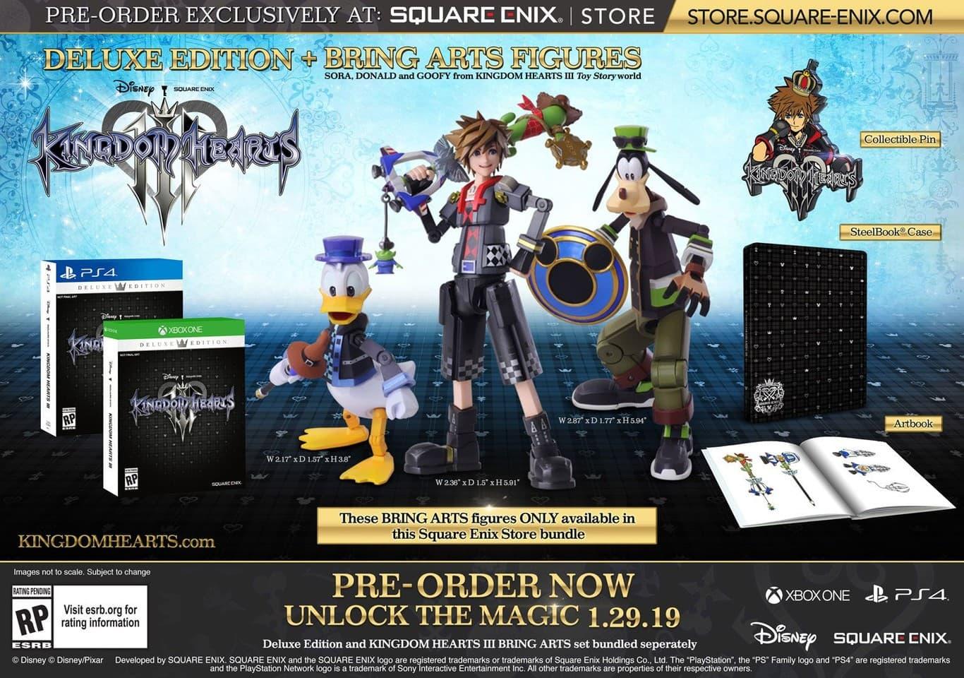 Dónde comprar Kingdom Hearts III: Ediciones y diferencias 3