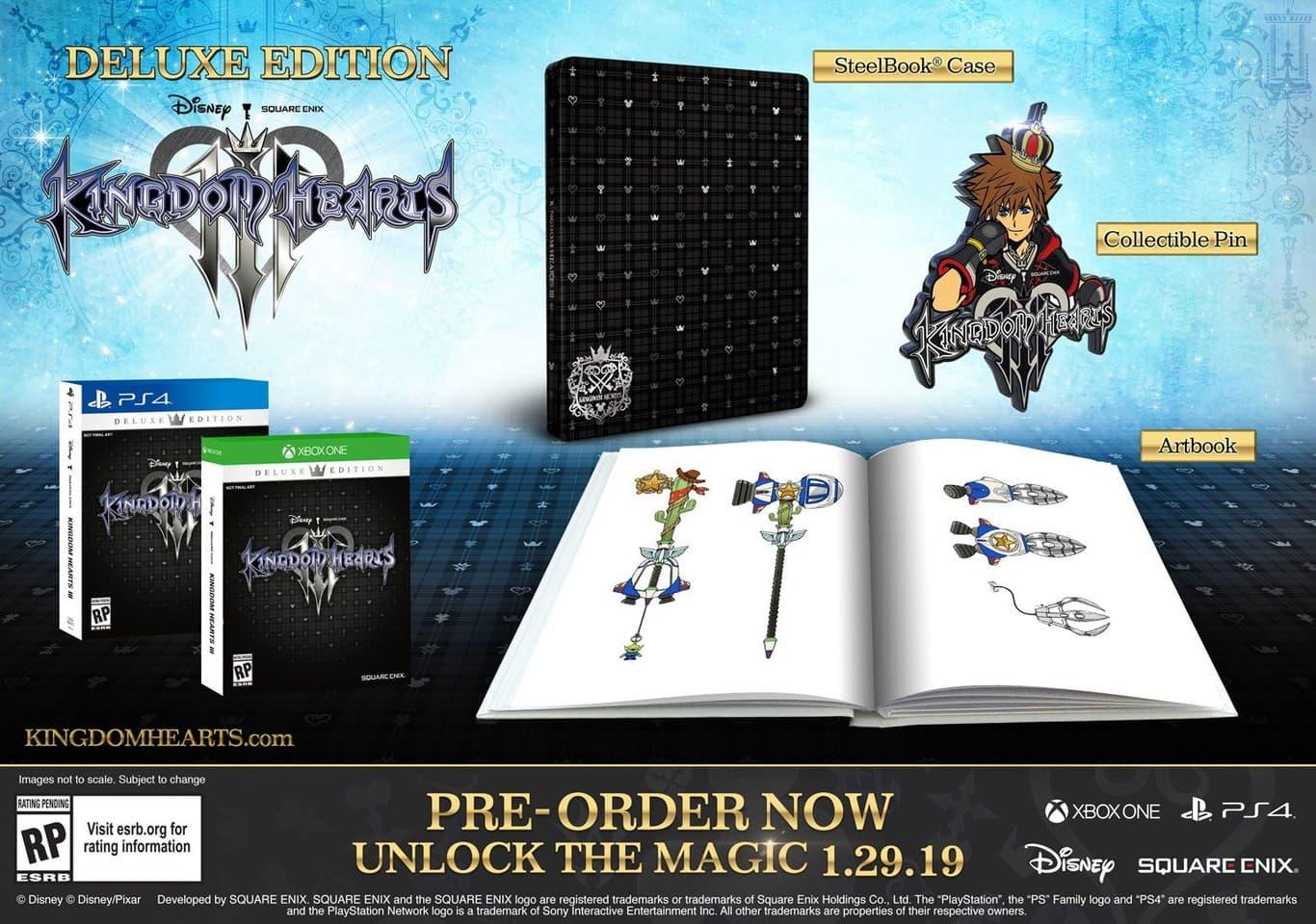 Dónde comprar Kingdom Hearts III: Ediciones y diferencias 2