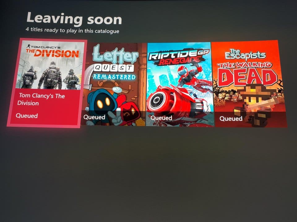 Estos juegos abandonarán Xbox Game Pass en enero 2