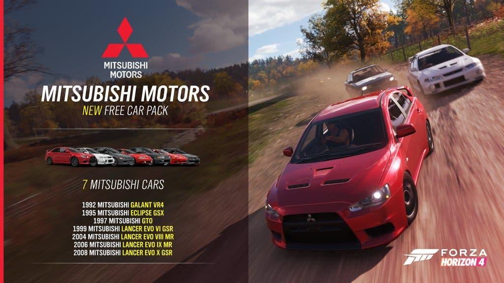 Forza Horizon 4 recibe un pack gratuito con coches de la marca Mitsubishi 2
