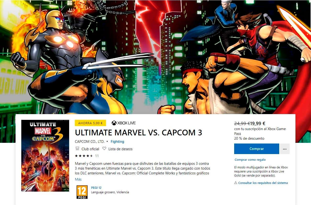 Ultimate Marvel vs Capcom 3 podría llegar a Xbox Game Pass de forma inminente 2