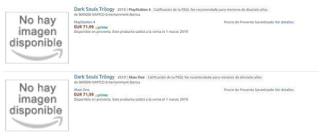 Dark Souls Trilogy aparece en Amazon España con fecha de lanzamiento 2