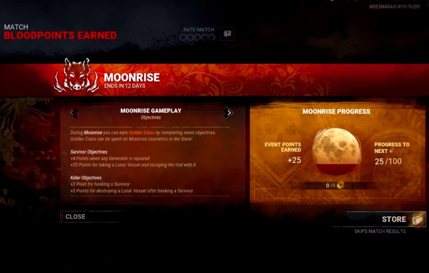 Dead by Daylight presenta su nuevo evento, The Moonrise