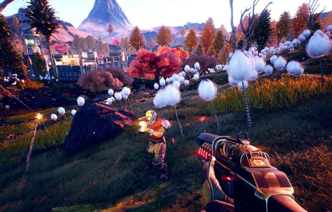 nuevotráiler de The Outer Worlds presenta la colonia de Halcyon, colonizada por un grupo diverso de corporaciones.