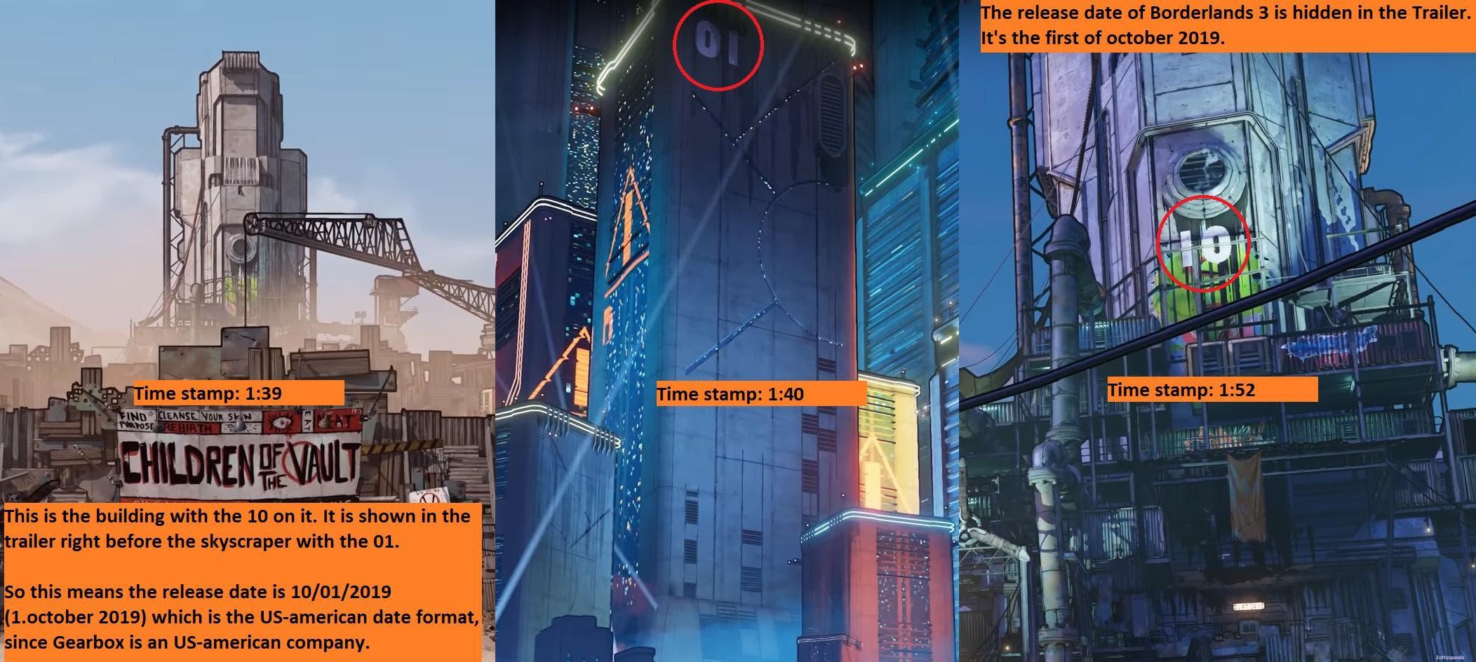 Una teoría intenta desvelar la fecha de lanzamiento de Borderlands 3 2