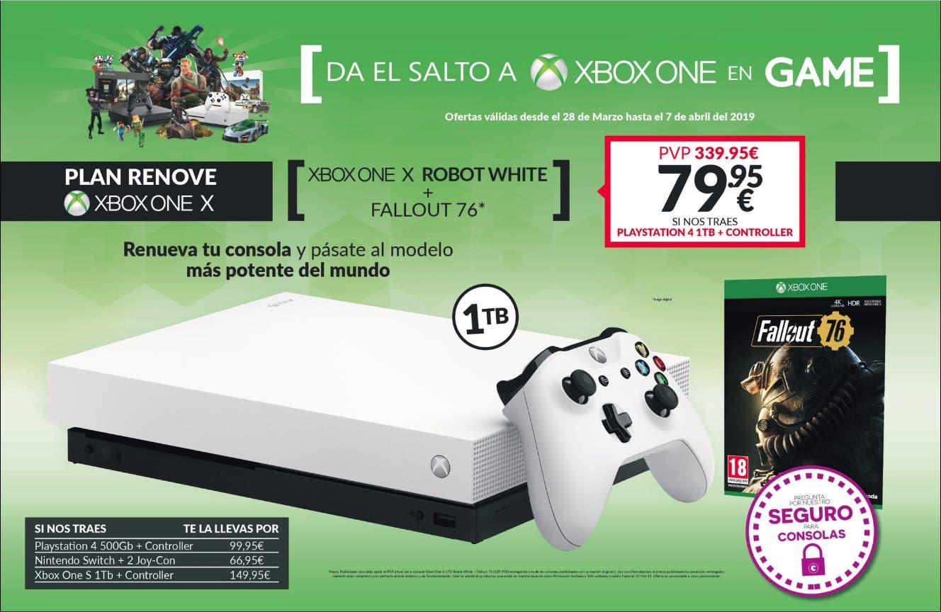 Increíble plan renove de GAME para hacerte con Xbox One X 1