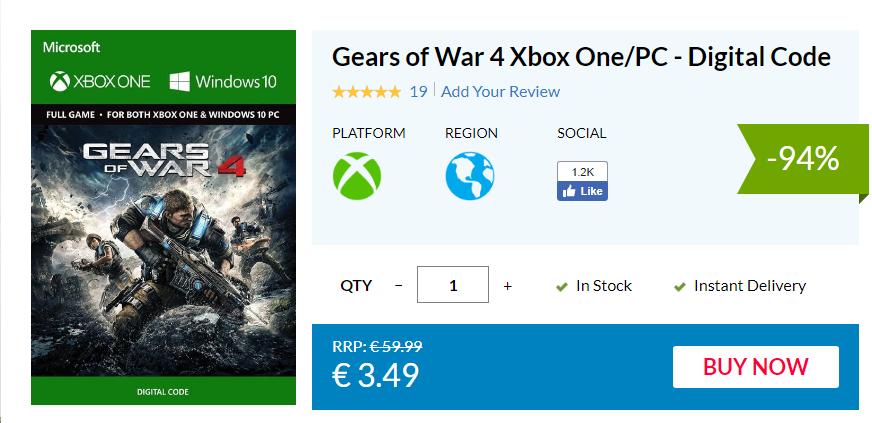 Aprovecha un enorme descuento en la edición digital de Gears of War 4 2