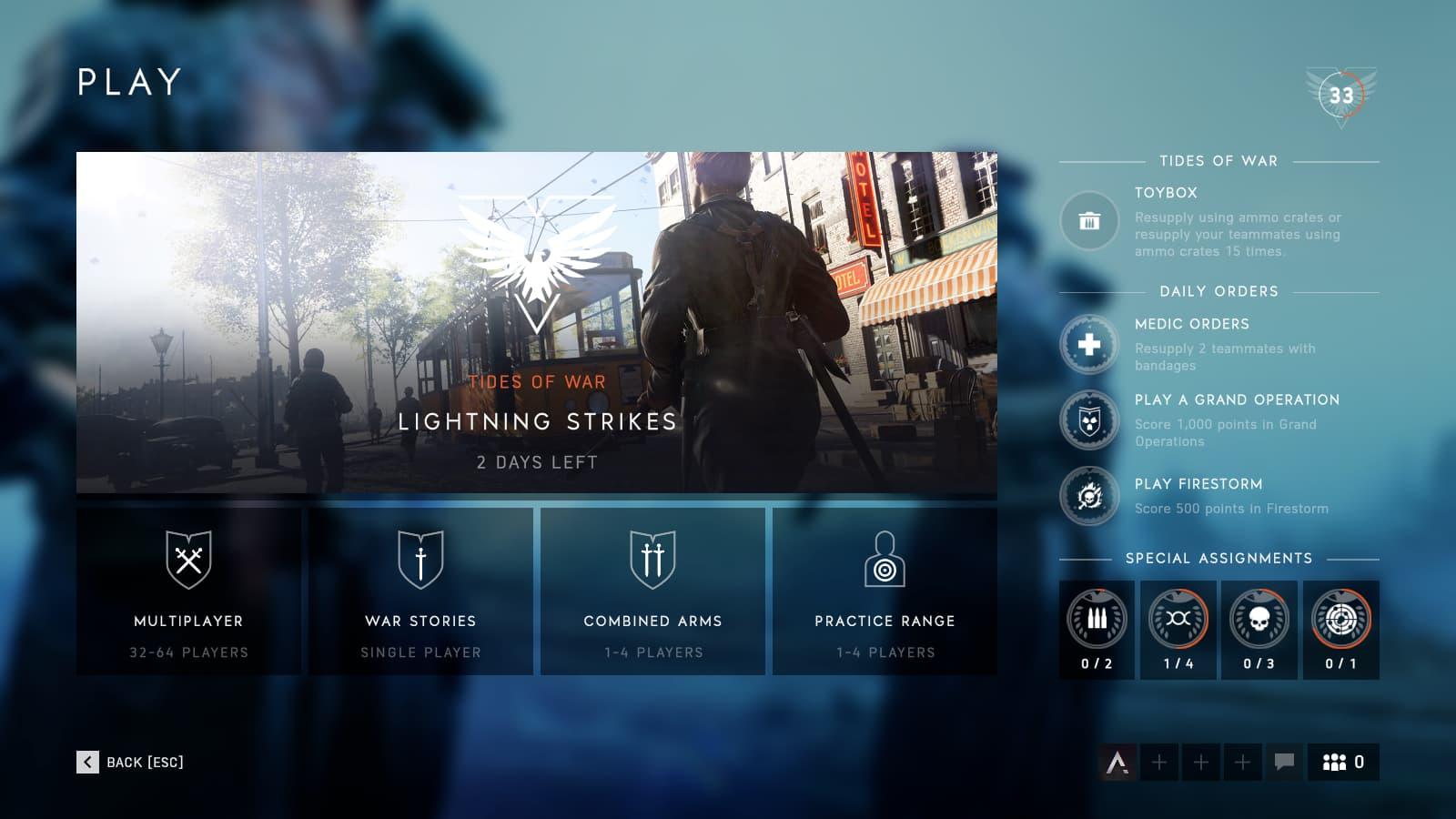 Todavía no ha salido pero Battlefield V ya cuenta con ordenes diarias relacionadas con su modo Battle Royale 2
