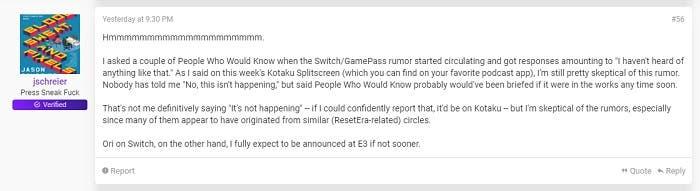 La llegada de Ori a Nintendo Switch se anunciaría en el E3 o antes 2
