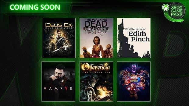 Vampyr, Deux Ex: Mankind Divided y más nuevos juegos para Xbox Game Pass 1