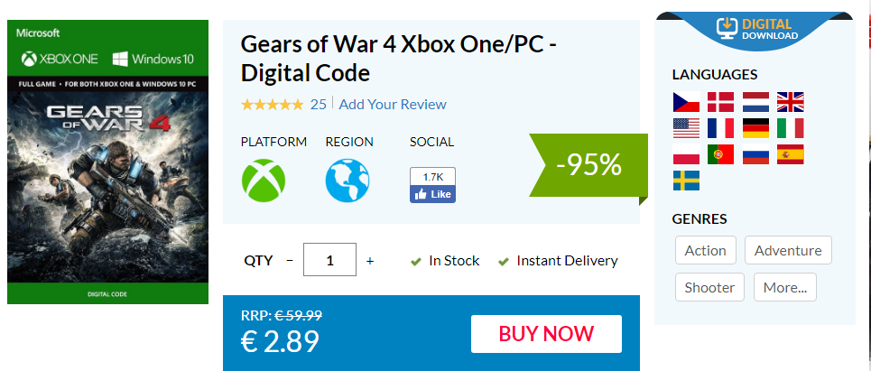 Hazte con Gears of War 4 por un precio minúsculo y disfrútalo en Xbox One y Windows 10 2